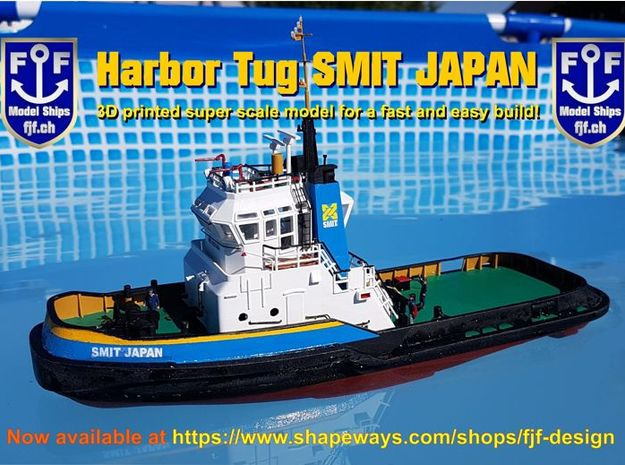 Harbor Tug Hull 1:100 V.40 (Feature Complete) in White Natural Versatile Plastic