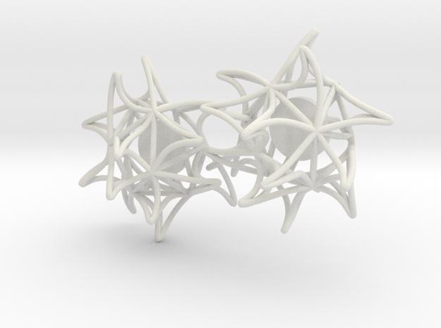 Aster Studs 10-21-18 in White Natural Versatile Plastic