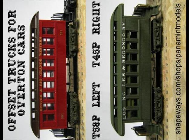 T58p x8 N offset passenger truck, Caboose, Overton 3d printed