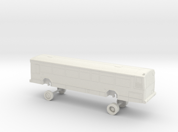 HO Scale Bus Gillig Phantom MST 1801-1804 in White Natural Versatile Plastic