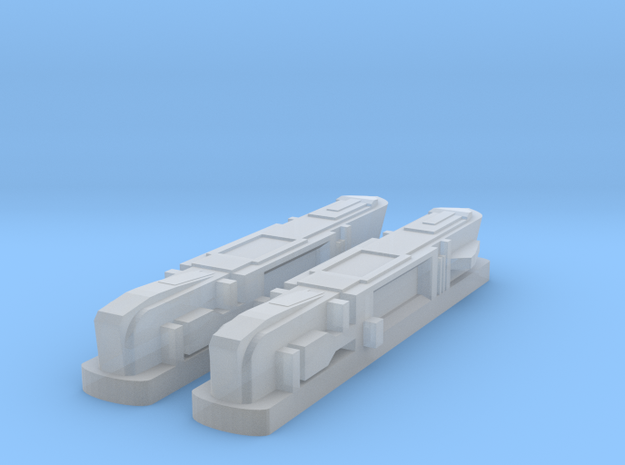 2500 Pointy-Eared Adversary Nacelles 1 in Smooth Fine Detail Plastic