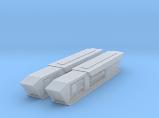 Pointy-Eared Adversary Nacelles 2 in Smooth Fine Detail Plastic