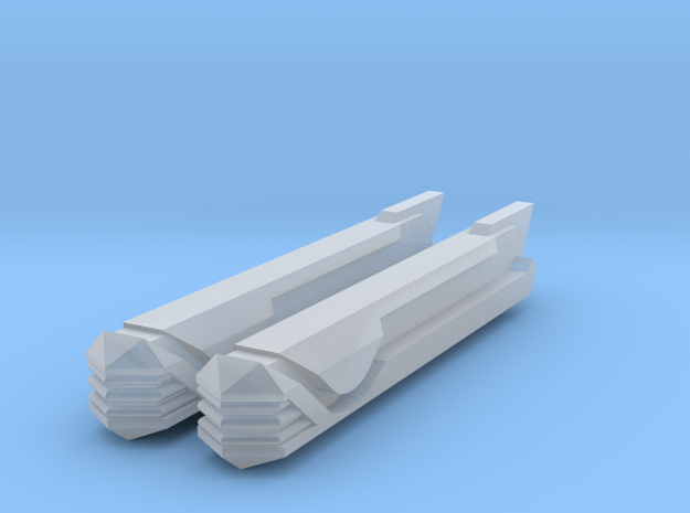 2500 Pointy-Eared Adversary Nacelles 3 in Smooth Fine Detail Plastic