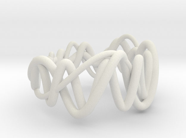 vort ring small (95%) in White Natural Versatile Plastic
