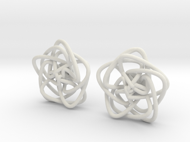 double knot studs in White Natural Versatile Plastic
