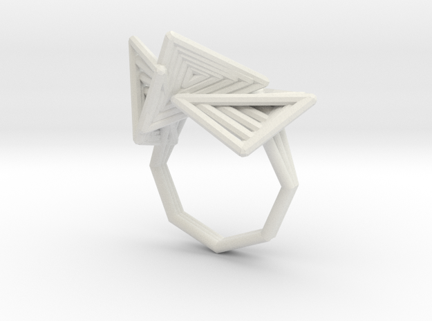 tetryn ring tall (110%) in White Natural Versatile Plastic