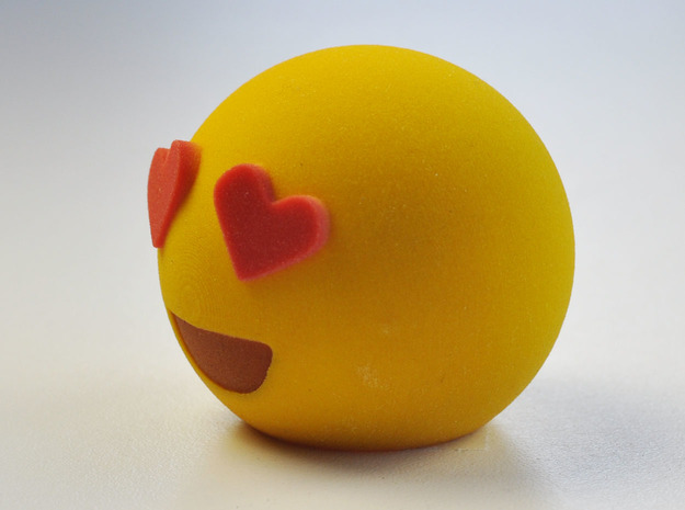 3D Emoji Love 3d printed