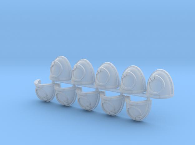 Ouroboros Mk7/8 shoulder pads L #1 in Smooth Fine Detail Plastic