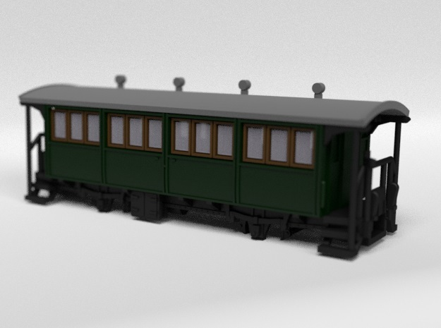 Passenger Wagon in Smooth Fine Detail Plastic