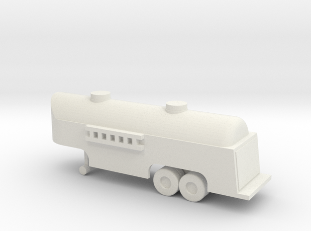 1/200 Scale Fuel Tank Trailer in White Natural Versatile Plastic