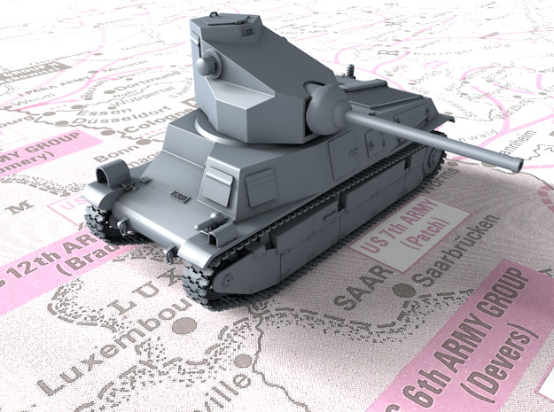 1/72 French SARL 42 Tank (75mm SA44 Gun) in Smooth Fine Detail Plastic