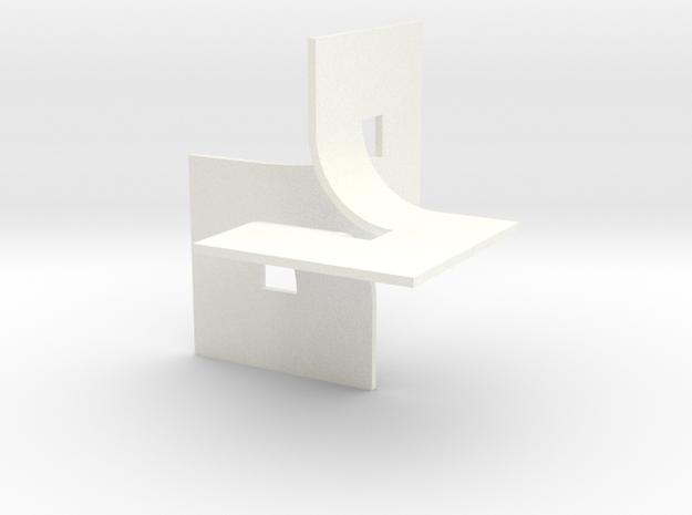 The 3D Space in White Processed Versatile Plastic