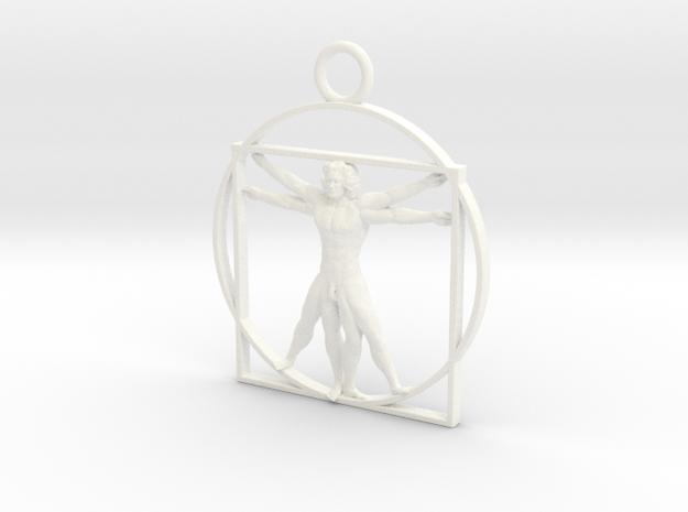 vitruvian man 5cm 3d printed