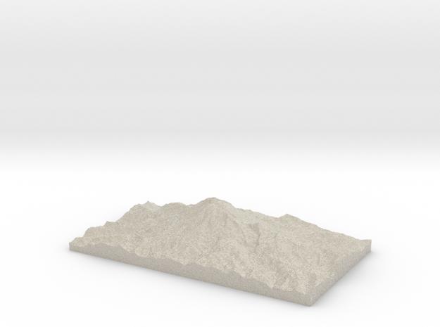 Model of East Crater in Natural Sandstone