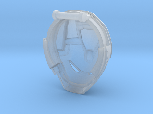 Hulkbuster Head (no rotation) in Smooth Fine Detail Plastic: Medium