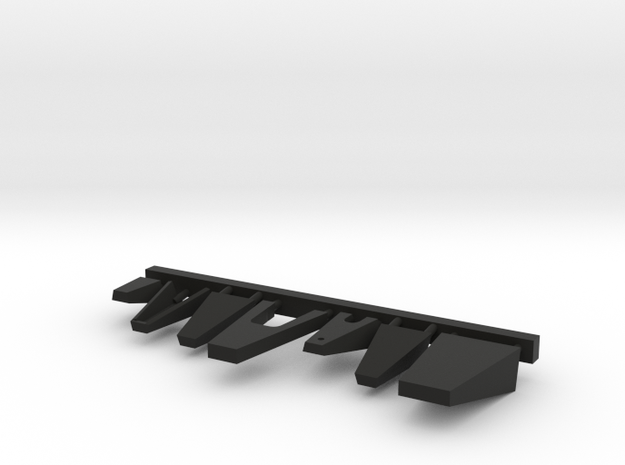 1/96 scale Burke Above Bridge Platforms set in Black Premium Versatile Plastic