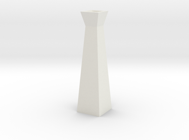 GeoVase Large in White Natural Versatile Plastic