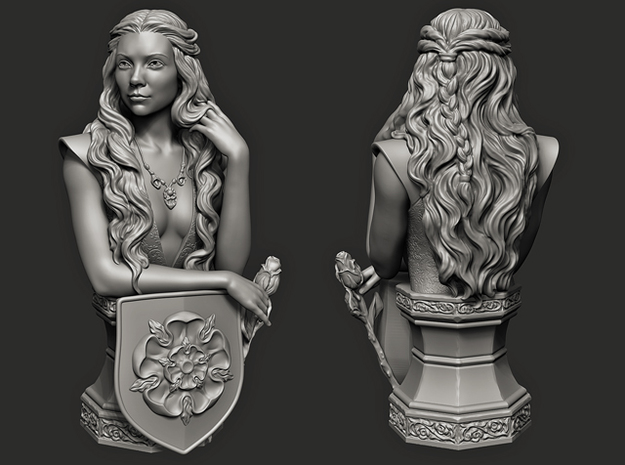 Margaery Tyrell.   (8cm\3.14 inches) in White Processed Versatile Plastic