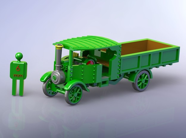 Foden Steam Lorry 1916 1/160 in Smooth Fine Detail Plastic