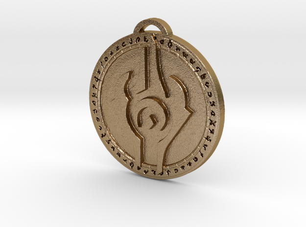 Draenei Faction Medallion (Modern) in Polished Gold Steel