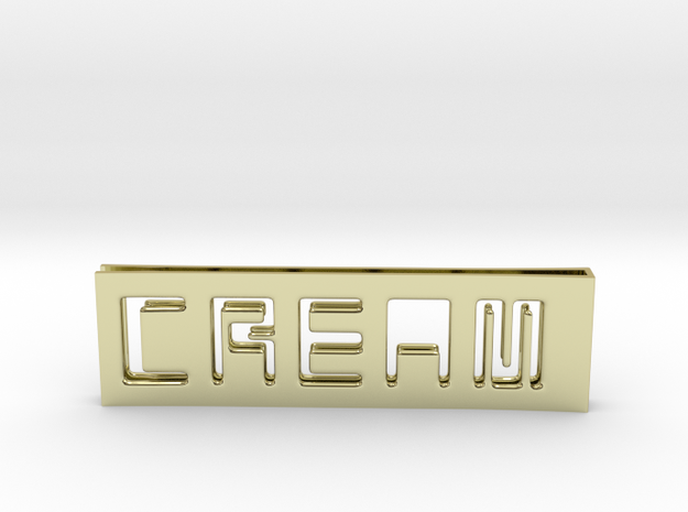 C.R.E.A.M. Moneyclip...so that Cash never dies OUT in 18k Gold Plated Brass