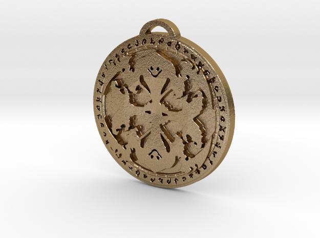 Warlock Class Medallion in Polished Gold Steel