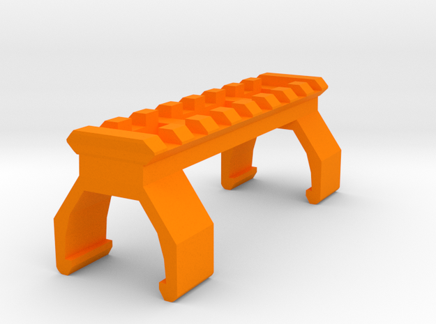 G3 / T3 Picatinny Rail (8 Slots) in Orange Processed Versatile Plastic