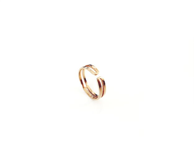 Loop Ring in 14k Gold Plated Brass: Small