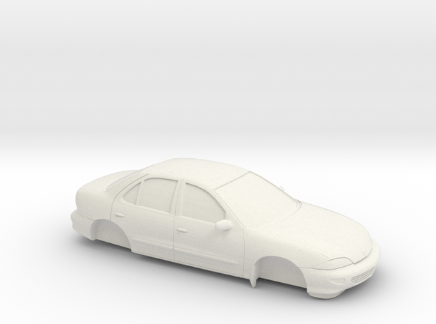 1/25 1998 Chevrolet Cavalier Sedan in White Natural Versatile Plastic