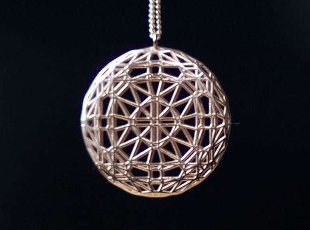 Rose window in 14k Rose Gold Plated Brass