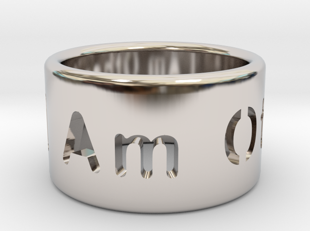 I Am Other Ring in Rhodium Plated Brass: 7 / 54