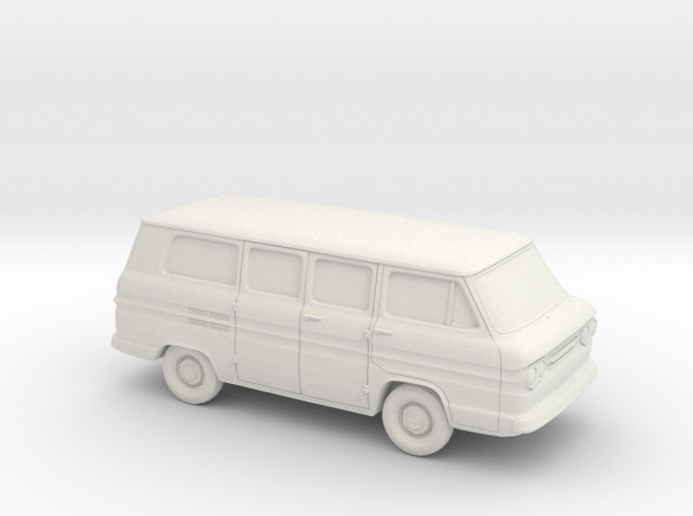 1/64 1961-65 Chevrolet Corvair Greenbrier in White Natural Versatile Plastic
