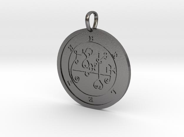 Beleth Medallion in Polished Nickel Steel