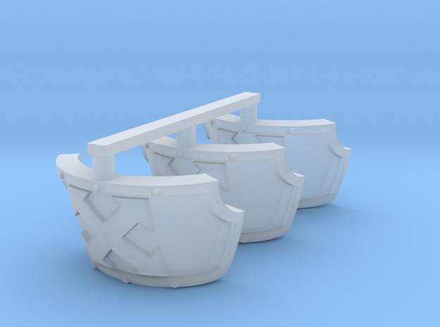Assault Centaur schoulder pads x3 in Smooth Fine Detail Plastic