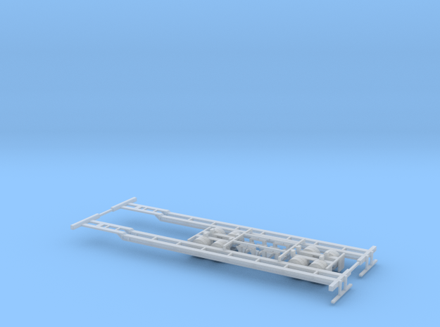 N 53' Container Chassis 2 Pack in Smooth Fine Detail Plastic