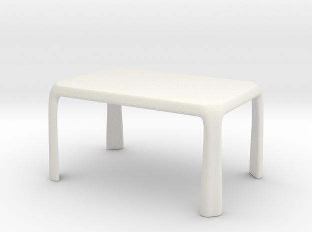1:25 - Miniature Dining Table  in White Natural Versatile Plastic
