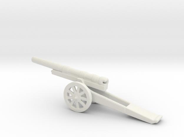 13cm L/35 Kanone  09 spoked 1/285 6mm  in White Natural Versatile Plastic