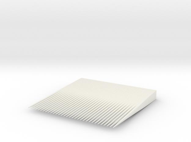 Minimalist Compact Comb  in White Natural Versatile Plastic