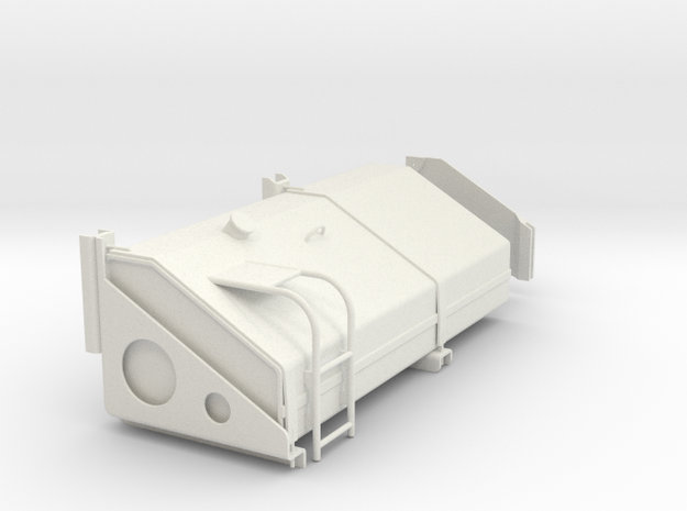 FuelTankLH in White Natural Versatile Plastic