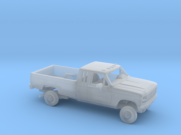 1/87 1980-86 Ford F-Series Ext.Cab Reg Bed Kit in Smooth Fine Detail Plastic