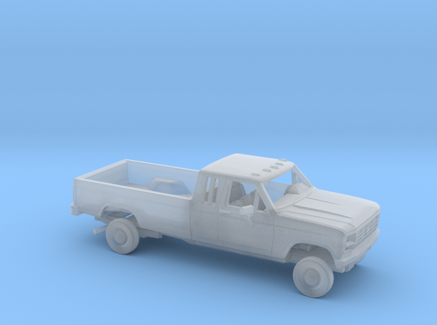 1/87 1980-86 Ford F-Series Ext.Cab LongBed Kit in Smooth Fine Detail Plastic