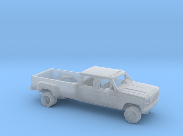 1/87 1980-86 Ford F-Series Crew Cab Dually Kit in Smooth Fine Detail Plastic