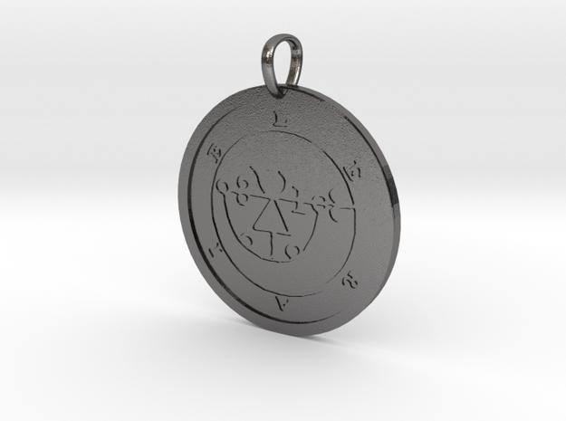 Leraje Medallion in Polished Nickel Steel