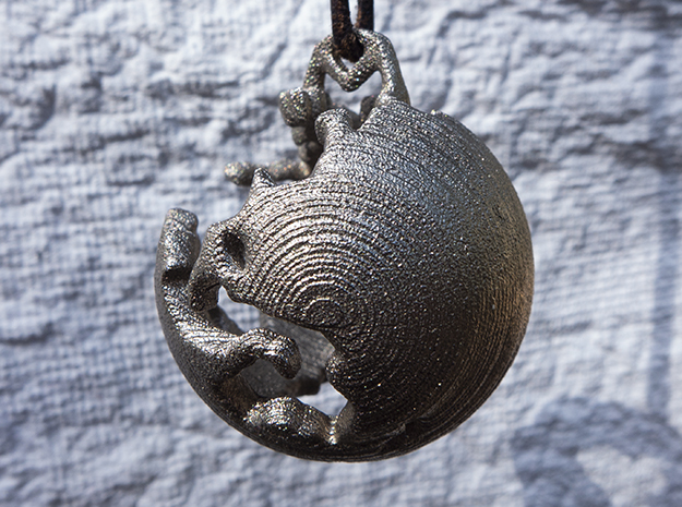One River - Ornament - Earth Works in Polished Nickel Steel