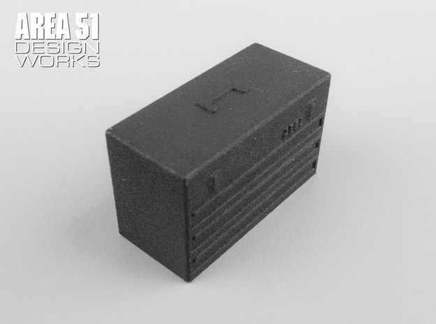 12th Scale Toolbox in Black Natural Versatile Plastic