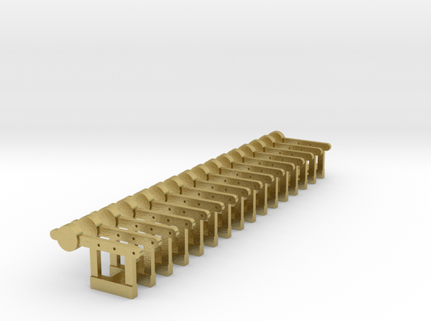 HO Signal Counterweight Levers X 16 - Brass in Natural Brass