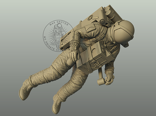 Gemini Astronaut with LTV Unit / 1:48,72,24  in White Natural Versatile Plastic: 1:48 - O