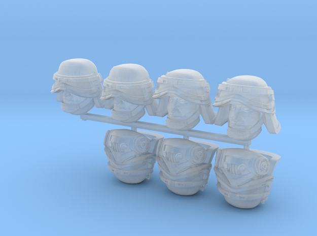 Filthy Bucketheads (x7 w/ Variants) in Smoothest Fine Detail Plastic