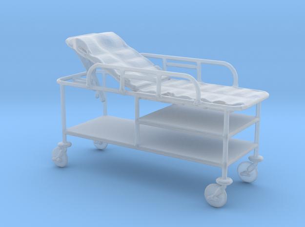 Hospital Gurney tilted rails-up 1:48 in Smooth Fine Detail Plastic