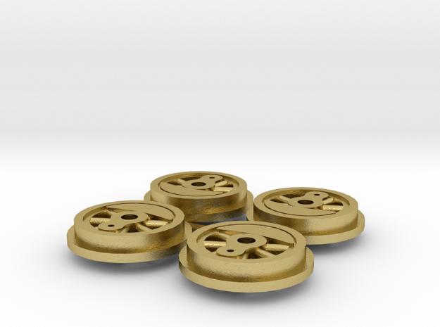 MMW-4806-1 Fowler wheels ver 1 in Natural Brass